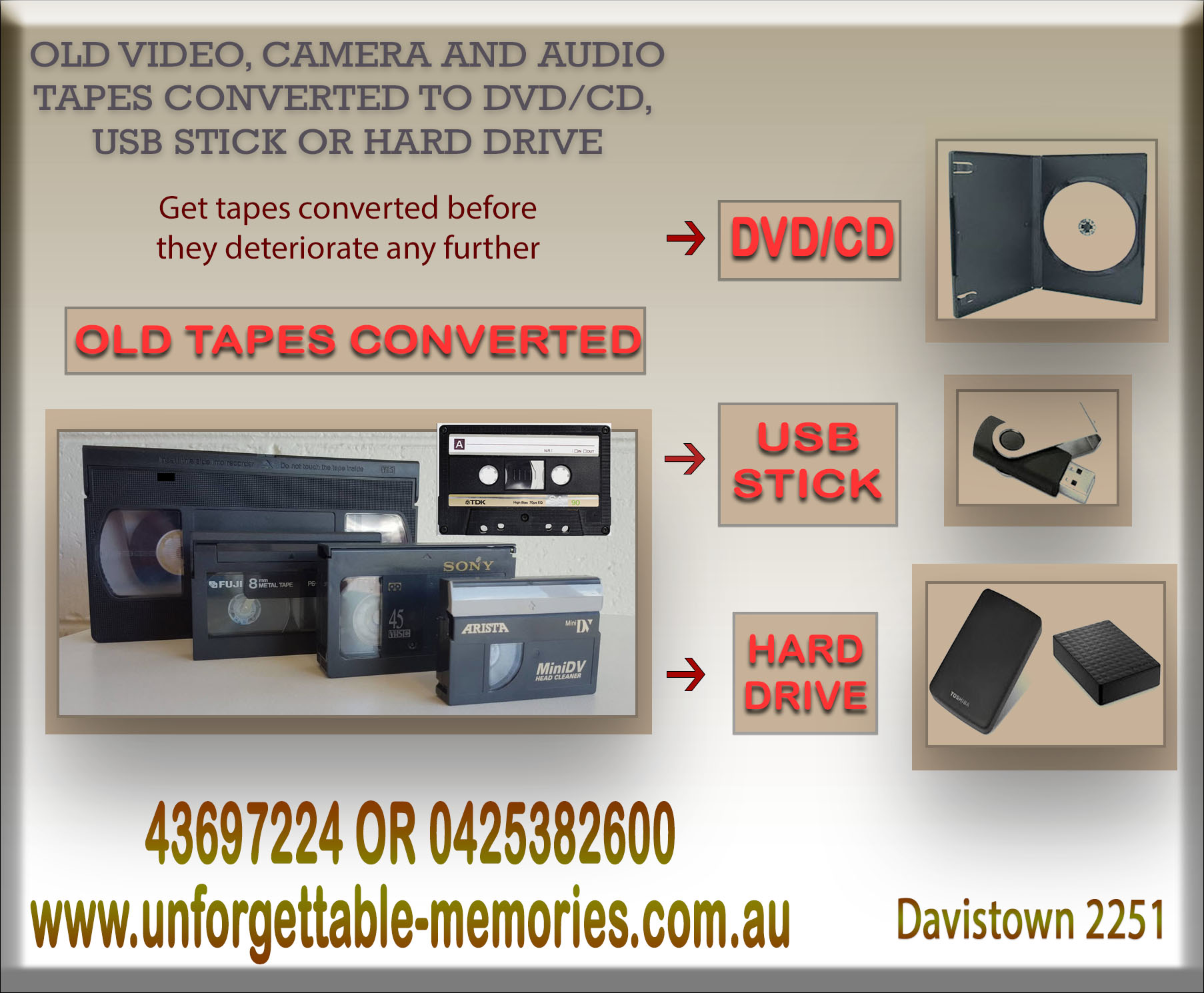 where to get vhs converted to dvd